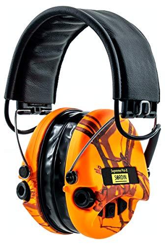Sordin Supreme Pro X LED Cascos - Auriculares Ultrafinos Electrónicos | Orejeras de Protección Auditiva | Diseño Extraplano para Cazadores - Tiradores y Aficionados a la Caza - SOR75302-X-09
